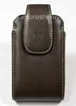 Signature Leather Case with Clip Body Glove Vertical Landmark Universal Protective Case for BlackBerry, Brown