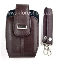 The original leather case with strap and metal tags for BlackBerry Leather Tote, Burnt Sienna