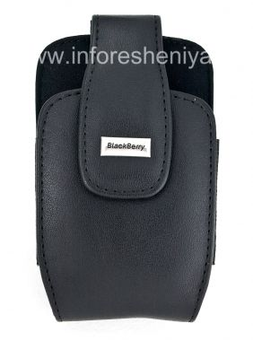 "Buy The original leather case with a clip and a metal tag ""BlackBerry"" Leather Holster with Swivel Belt Clip for BlackBerry"