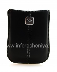The original leather case, a pocket with a metal tag Leather Pocket for BlackBerry, Black