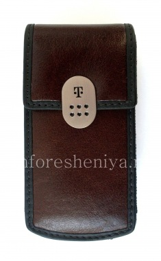 Buy Signature Leather Case with Clip T-Mobile Leather Carrying Case & Holster for BlackBerry