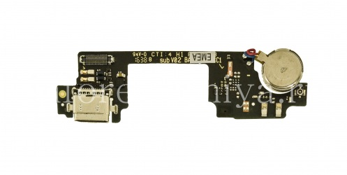 USB Connector (Charger Connector) T18 on microchip with microphone and vibration motor for BlackBerry DTEK60