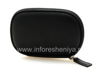 Original Leather Case Headset for BlackBerry, The black