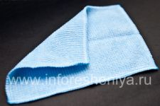 Branded microfibre cloth to clean the phone Smartphone Experts Microfiber Cleaning Cloth for BlackBerry, Blue