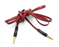 Audio cable Audio-to-Audio Jack (Aux) 3.5mm for BlackBerry, Red