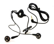 Asli Headset 2.5mm Stereo Headset untuk BlackBerry, hitam