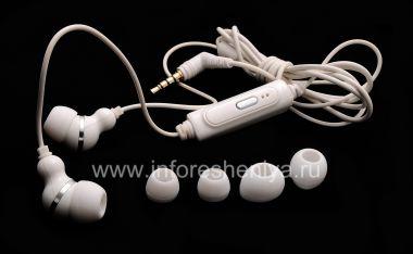 Buy Original Headset White 3.5mm Sound Isolating Stereo Headset for BlackBerry