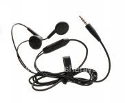 BlackBerryのための元の3.5mmの標準的なステレオのヘッドホーン, 黒