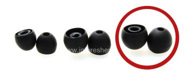 Original-Ohrstöpsel Blackberry Premium Headset, Schwarz, Riesengröße