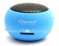 Branded Portable audio system Naztech N15 3.5mm Mini Boom Speaker for BlackBerry, Blue