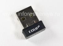 ওয়াইফাই এডাপটার EDUP BlackBerry আপনার কম্পিউটার থেকে ইন্টারনেটের সাথে সংযুক্ত করা, কালো, আয়তাকার