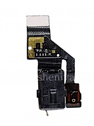 Microchip audio jack assembly with a microphone for BlackBerry Motion, The black