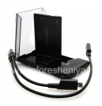 Original J-M1 battery charger complete with J-Series Extra Battery Charger Bundle for BlackBerry, The black