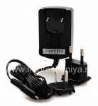 Original AC charger with MicroUSB connector for BlackBerry, The black