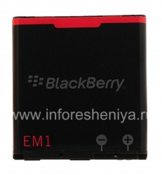 The original battery E-M1 for BlackBerry, The black