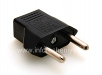 Adapter socket US-Euro (Russia) for BlackBerry, Black Triangle
