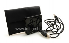 Portable charger in a case for BlackBerry, The black